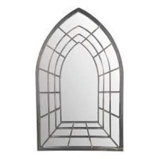 Metal mirror trompe l oeil goth.