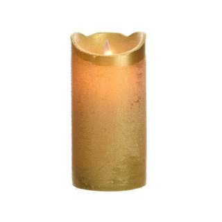 LED wax waving candle ind bo gold