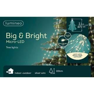 micro big LED tree lights GB silver/warm white