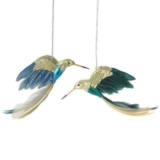 FEATHER DECORATED HUMMINGBIRD MIX