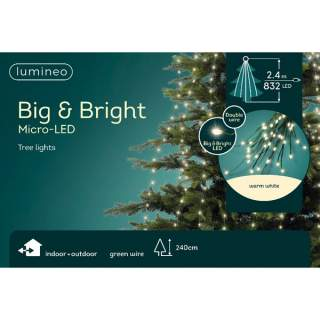 micro BIG LED bunch outd GB green/warm white