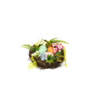 Bird Nest with Eggs - 7cm